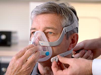 CPAP-kokokasvomaski - uniapneapotilaat - ResMed 400x300