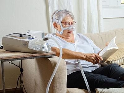 potilas - maski - noninvasiivinen ventilaatiohoito kotona - keuhkoahtaumatauti