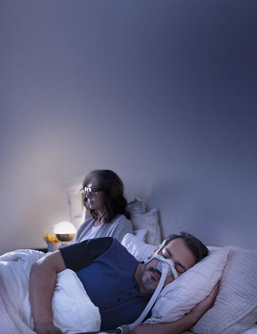 sleep-apnoea-patient-sleeping-with-AirTouch-N20-nasal-CPAP-mask-mobile
